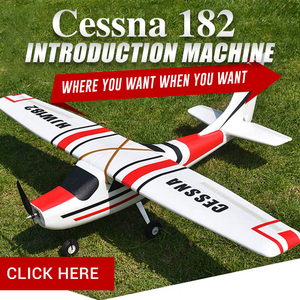 Image 2 - Cessna HJW182 1200mm Wingspan EPO Trainer Beginner RC Airplane Kit  For RC Models Remote Control Toys