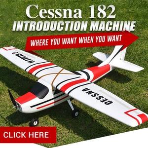 Image 2 - سيسنا fjw182 1200 مللي متر الجناح EPO المدرب المبتدئين RC طائرة عدة ل RC نماذج التحكم عن بعد اللعب