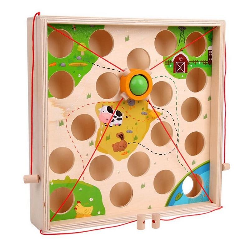 Creative Wooden Ball Maze Game 4