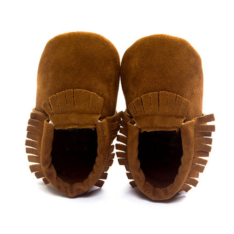 2018 PU Non-slip Footwear Crib Shoe Suede Leather Newborn Baby Boy Girl Baby Moccasins Soft Moccs Shoes Fringe Soft Soled New