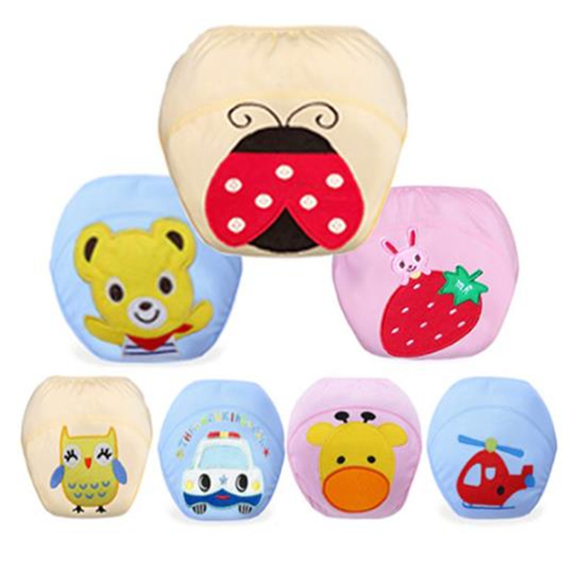 Baby Diapers 1Pcs Cute Reusable Nappies Cloth Diaper Washable Infants Panties Nappy Changing Children Baby Cotton Training Pants