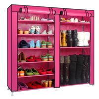 Home Simple Shoe Cabinet Dust Proof Cabinet Double Row Large Capacity Shoe Cabinet