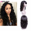 U part Human Hair Wigs 180% Density Wet Wavy Wigs Brazilian Lace Frontal Human Hair Wigs With Bangs Baby Hair for Black Women