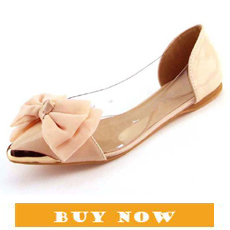 Descalços Sapatas Lisas das mulheres de Couro