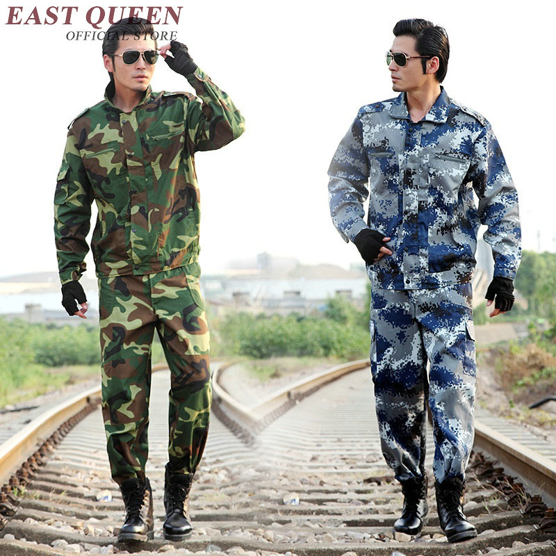 Hunting clothing camouflage suits male military jacket outdoor tactical training uniform large size XL-6XL AA2398 YQ