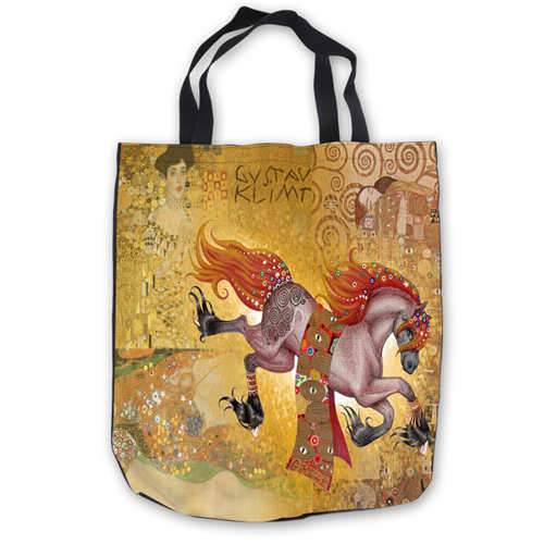 Image 4 - Custom Canvas Gustav_Klimt_ (1) Tote Hand Bags Shopping Bag Casual Beach HandBags  Foldable 180911 02 15Top-Handle Bags   -
