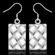 Estilo del verano fine silver plated pendientes 925-sterling-silver belleza joyería pendientes de gota para para SE376