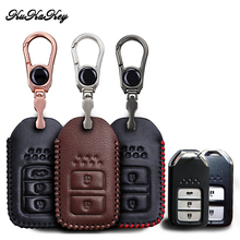 KUKAKEY Leather Car Key Case Cover For Honda Civic 2017 2018 Accord Fit Jazz XRV CRV Shell Holder Accessories все цены