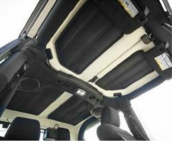 Free Shipping!! 4pcs Per Set Sound Deadener Hard Top Insulation Kit For Jeep Wrangler JK 2012-2015 2-Door Car Detector
