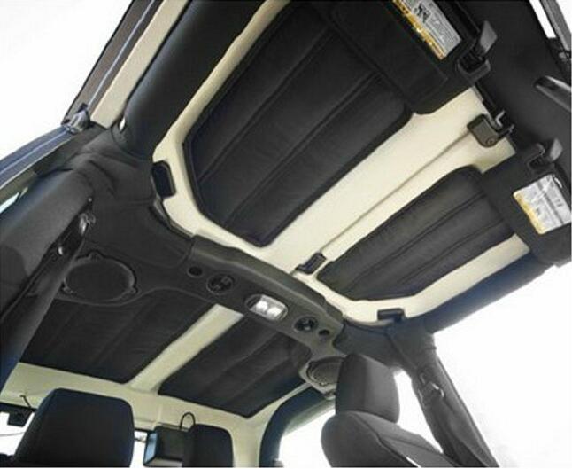 Livraison Gratuite!! 4 pcs Par Ensemble Insonorisant Hard Top Kit D'isolation Pour Jeep Wrangler JK 2012-2015 2 Portes détecteur De voiture