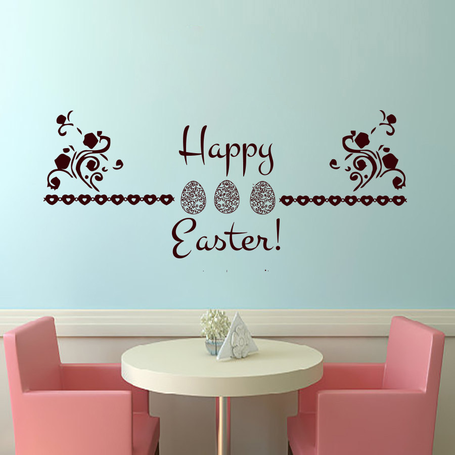 online buy wholesale vinyl wall border from china vinyl wall wall border flowers pattern decorative happy easter egg wall decals vinyl art home decor wall sticker