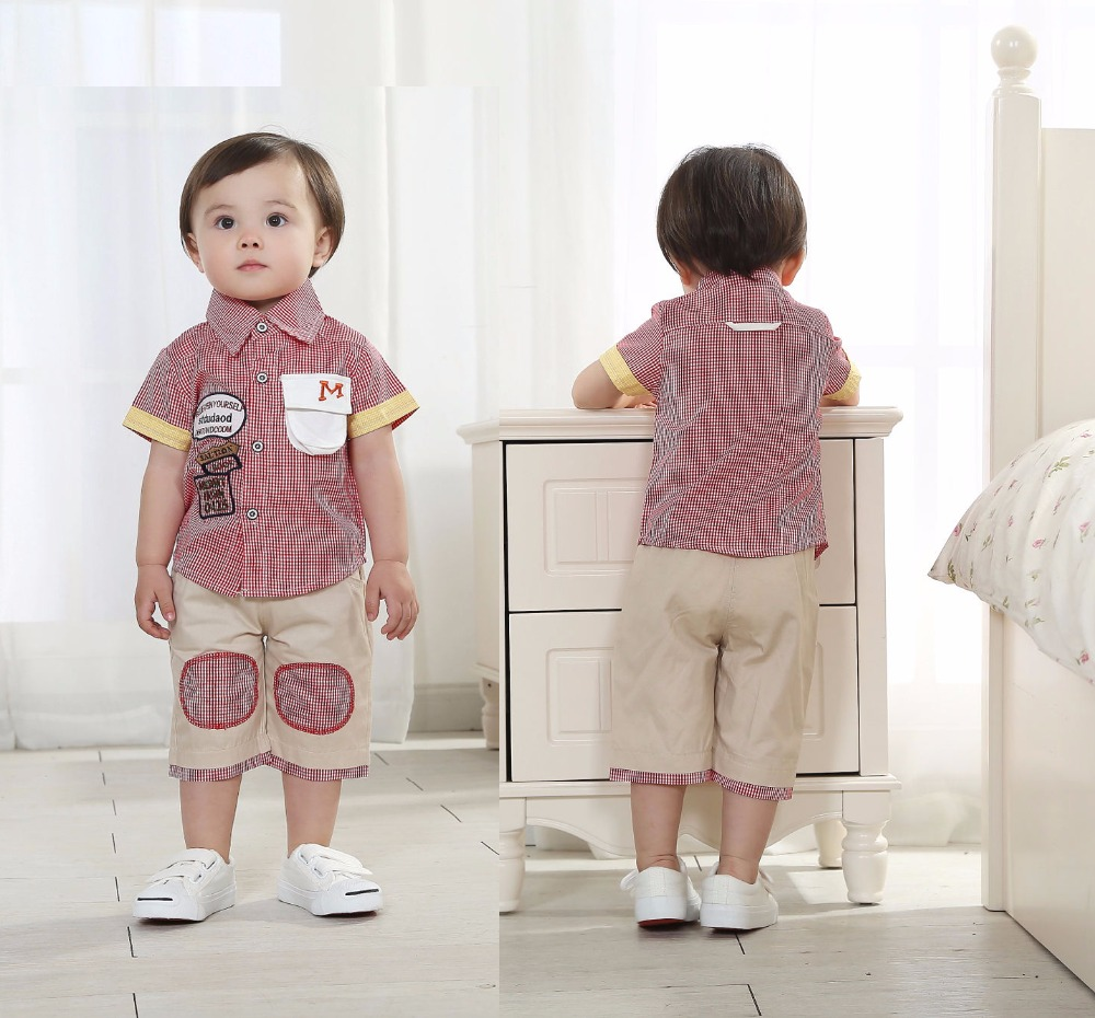 Cheap Baby Boy Clothes Kids Shorts Baby Boy Plaid Clothing