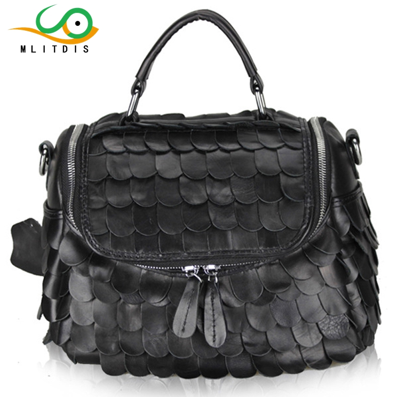 MLITDIS 2017 new leather sheepskin stitching women's internal interval portable Shoulder Messenger small package купить