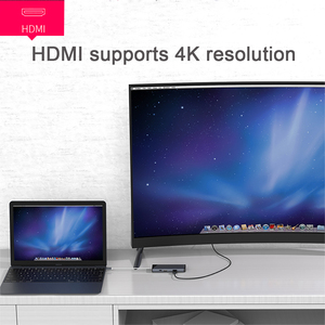 Image 5 - 7 in 1 usb c 허브 hdmi 기가비트 이더넷 rj45 어댑터 4 k usb3.1 sd/tf 카드 리더기 macbook pro ipad huewei type c 허브 hdmi