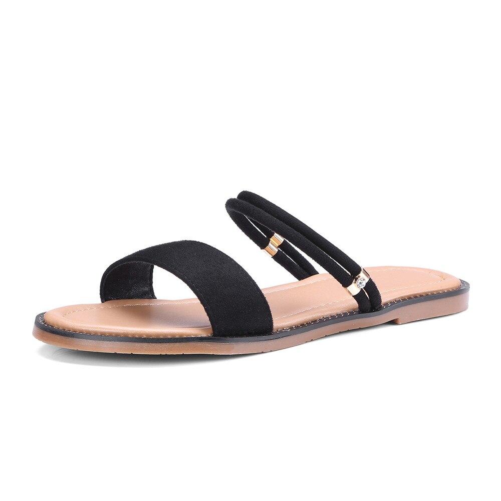 En Arrivent 2018 Sandales Chaussures Cuir pink Smirnova Femmes Suede Plat Avec Casual Mode Noir Femme Nouveau Confortable D'été Noir dRqxxISw6