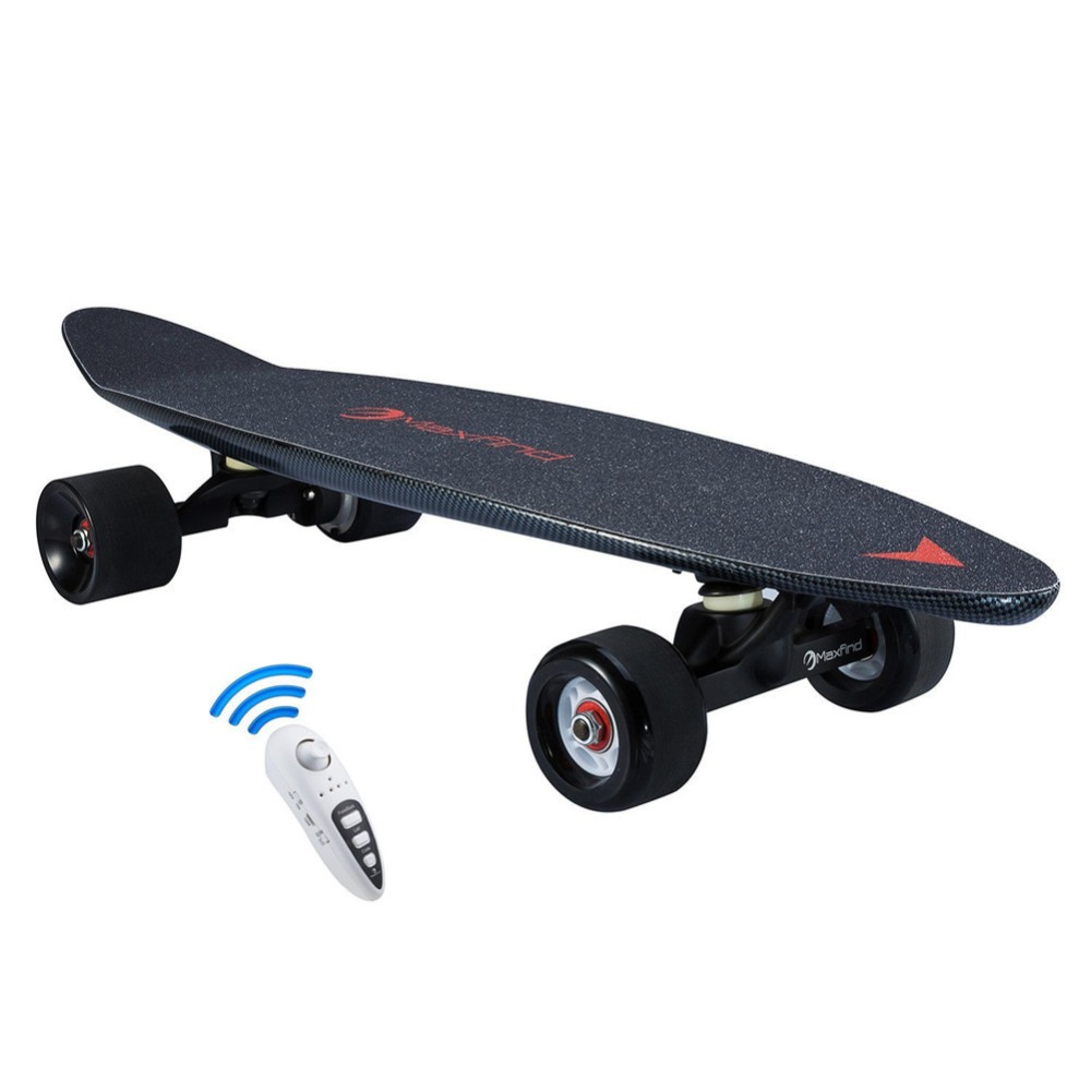 Maxfind electric power skateboard hub motor 500W penny board with wireless remote for Christmas Kids & Adults ...