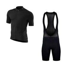 цена на SGCIKER Pro team fit plain color black cycling jersey Bicycle maillot MTB Short sleeve bike clothing 5D GEL pad Ropa Ciclismo