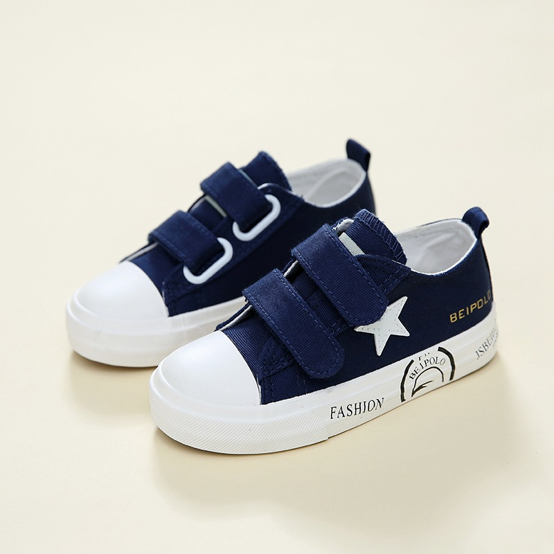 New 2018 European Spring/Autumn cool girls boys shoes toddlers Canvas Hook&Loop baby sneakers high quality baby casual shoes