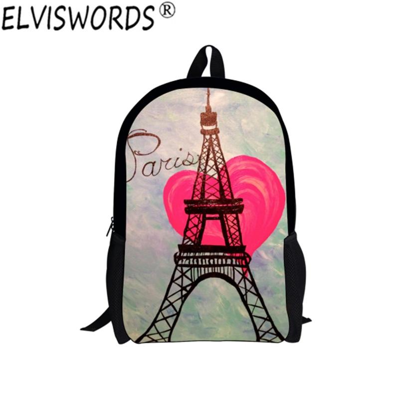 Paris Eiffel Tower Pillow 16 X 16: ELVISWORDS 16 Inch Children Paris Eiffel Tower Printing