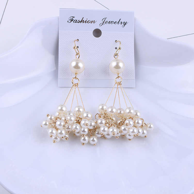 New Arrival Hanging Simulated Clip Earrings Without Piercing for Women Party Wedding Attractive Elegant Ear Clip Fashion Jewelry
