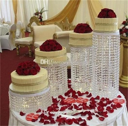 Crystal cake stand centerpiece Wedding Cake Display Birthday decoration - 4
