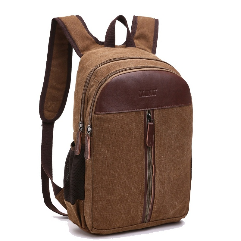 Vintage Canvas Men Backpack Preppy Style Schoolbags Travel Bag Trendy Laptop Bags Weekend Mochila B9