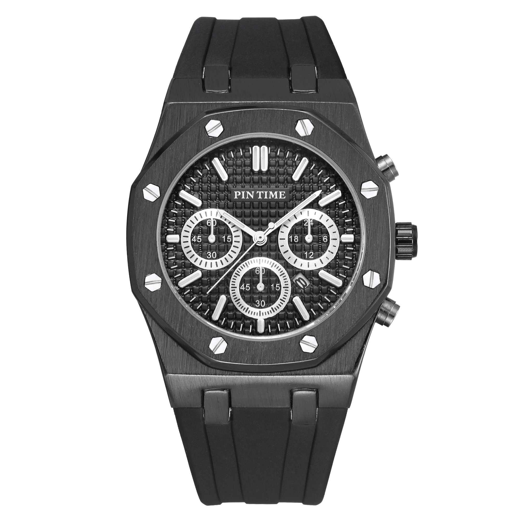 PINTIME Mens Watches Top Brand Luxury Men Military Sport Wristwatch Rubber Quartz Watch Waterproof Erkek Saat Relogio Masculino