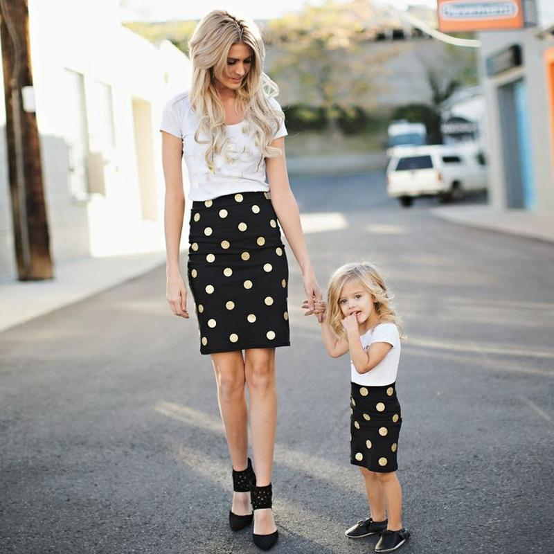 212860dda9 matching mother daughter clothes family look short sleeve ankle length  polka dot mom and daughter dress plus size-in Matching Family Outfits from  Mother ...