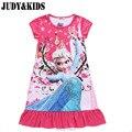 Детская Платье для Девочки Анна Эльза Рождественский костюм Пижамы Снежная королева Белый Принцесса Золушка софия дети Рубашки