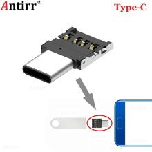 1pc Type-C USB-C Connector Type C USB 3.1 Male to USB Female OTG Adapter Converter For Android Tablet Phone Flash Drive U Disk