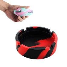 Портативный Анти-скальдинг держатель для сигарет многоцветный экологичный силиконовый мягкий круглая пепельница держатель лотка