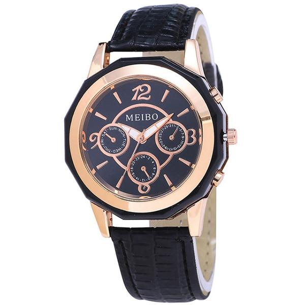 MEIBO women Fashion leather Analog quartz-watch hour clock female watchWrist watches Gift цена и фото