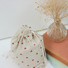 Raged Sheep Cotton Shopping Bag Drawstring Cotton Eco Grab Red Heart Bag Feeding Bottle Bags