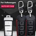 Кожа Стайлинга Автомобилей Ключ Чехол Для Volkswagen VW Passat B6 B7 CC Maogotan R36 B7L Авто Ключ Крышка Аксессуары