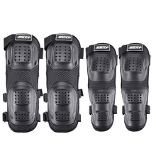 FLA5D PE Protective Shell Motorcycle Knee Elbow Pads 4 Times Black Motorcycle Protective Knee Pads Safety