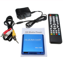 Nosotros enchufe Mini coche Hdd Media Player adaptador Hdmi Av Usb anfitrión con tarjeta Mmc Sd Reader H.264 Mkv avi 1920x1080P 100Mpbs (Bl(China)
