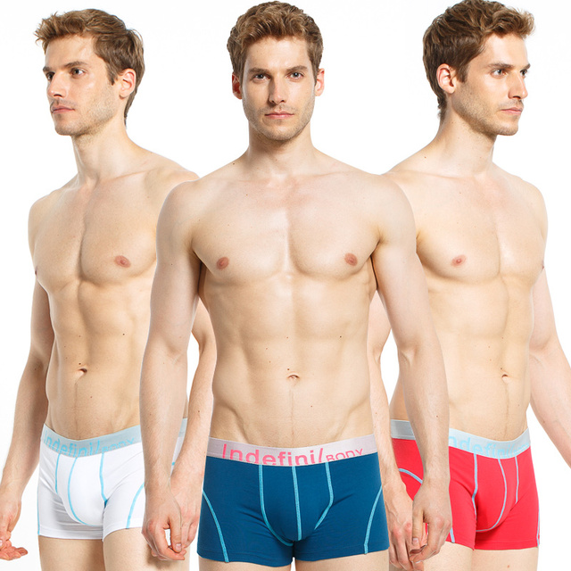 3PCS/lot Hot Sale High Quality Men's Boxers Fashion Sexy Men's Underwear Shorts Comfortable and Breathable Underpants Wholesale