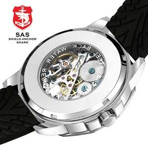 Image 3 - SAS Kalkan Çapa Köpekbalığı İzle Erkekler Saat Mekanik kafatası iskelet Saatler Kol Saati relogio masculino