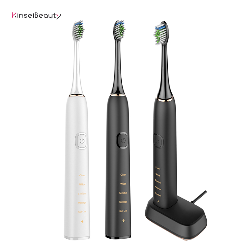 Electric Toothbrush Whitening Smart Chip Sonic Electric Toothbrush Waterproof Toothbrush USB Rechargeable toothBrush for Adult image