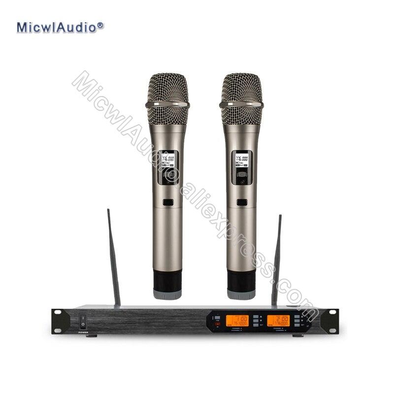 Pro UHF D200 fréquences numérique portable ou avec col de cygne Bodypack système de Microphone sans fil micro karaoké
