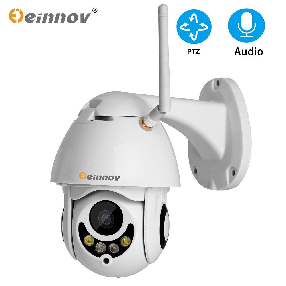 Einnov 4 4xzoom 1080 P 2MP PTZ Câmera de CFTV IP de Segurança Sem Fio Em Casa Sistema de Vigilância de Vídeo Ao Ar Livre Câmera Wi-fi Áudio câmera