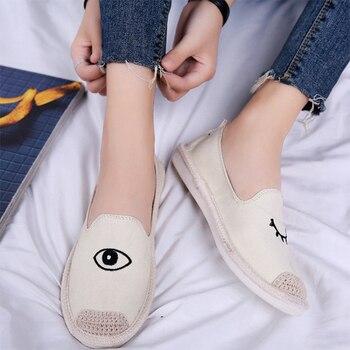 668712f1 Zapatos planos de mujer MCCKLE mocasines de ojos bordados para mujer  Alpargatas deslizantes en mocasines casuales de mujer zapatos de moda de  mujer