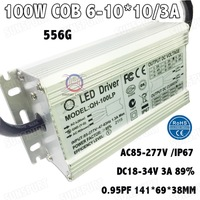 2 Pieces Isolation 100W AC85 277V LED Driver 6 10x10 3A DC18 34V IP67 Waterproof Constant Current For Spotlights Free Shipping