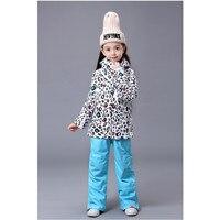 Счетчик подлинной Gsou снег дети лыжный костюм Обувь для девочек лыжный костюм родитель ребенок лыжный костюм леопардовый