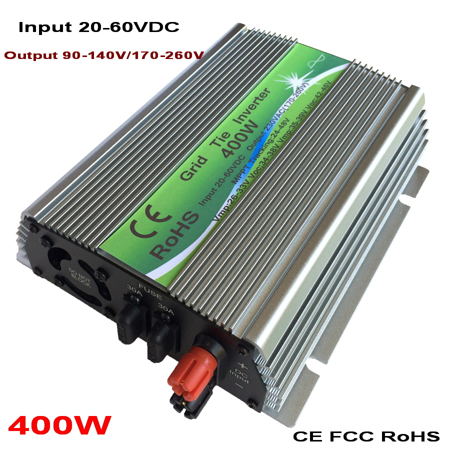цена на 400W On-grid Solar Power Inverter with Pure Sine Wave DC 20-60V to AC110V/220V, 50/60HZ Grid Tie Inverter Grid Connect Inverter