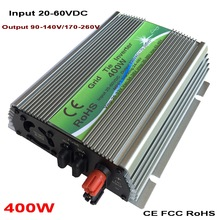цена на 400W On-grid Solar Power Inverter with Pure Sine Wave DC 20-60V to AC110V/220V, 50/60HZ Grid Tie Inverter Grid Connect Inverter