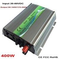400W On grid Solar Power Inverter with Pure Sine Wave DC 20 60V to AC110V/220V, 50/60HZ Grid Tie Inverter Grid Connect Inverter