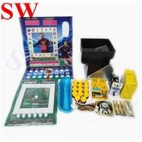 Slot machine jogo kits DIY Mario Mario jogo peças do armário alimentação GD888 hopper moeda botão moeda aceitador fios