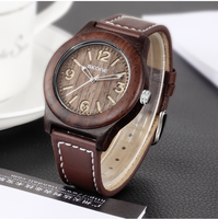 Skone Wooden Watch Women Men Vintage Leather Quartz Wood Dress Watch Clock Top Luxury Brand Genuine Leather Strap Wristwatches