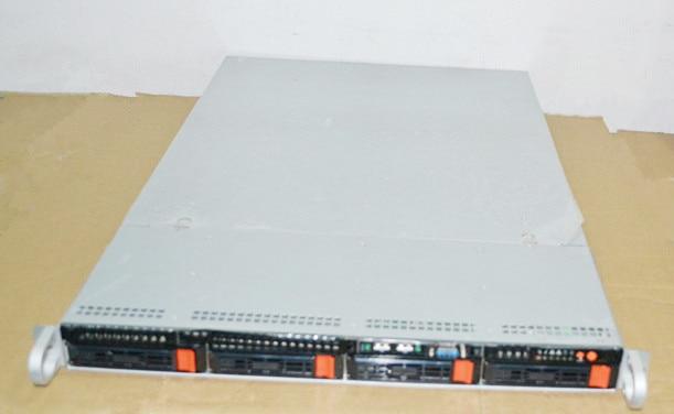 1U 4 hard disk hot plug cabinet, superfine factory, HD monitor box, NAS case 2u 4 disk hot plug ultra short server box storage monitor cabinet nsa case data cabinet